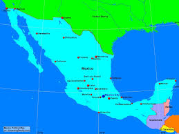 Political Map Of Mexico Mexico Physical Map Page 36 Of 77 A Learning Family