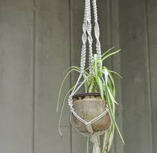 Simple Macrame Plant Hanger - how to make a simple macrame plant hanger by bbdaddefaf on