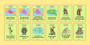 aztec timeline cards aztec aztec mexican history