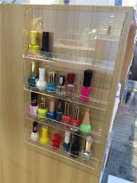 wall mounted makeup organizer display acrylic nail polish display