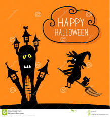 haunted house clipart free haunted house happy halloween witch and black cat stock vector