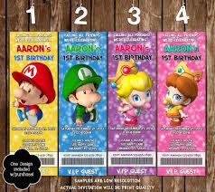 novel concept designs baby super mario bros ticket video game