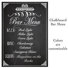 wedding drink menu template wedding ideas weddingion menu template chalkboard bar sign