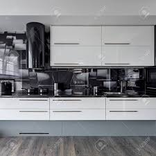 white kitchen wall cupboards modern kitchen with white cupboards and black wall tiles