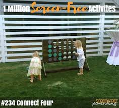 Backyard Connect Four by 1 Million Screen Free Activities For Young Kids 231 235