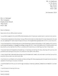 awesome covering letter for office administrator 80 for your