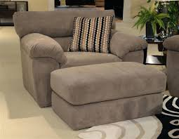 sofa chair and ottoman set sofa chair with ottoman oversized chair in granite fabric by