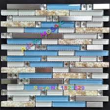 Blue Glass Kitchen Backsplash Blue Glass Sea Shell Tile Kitchen Backsplash Conch Tile Mother Of