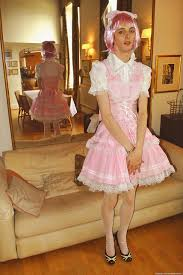 a sissy in his first dress his sister gave it to him for his