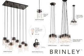kichler light bulbs kichler 42877ni brushed nickel brinley 6 light 12