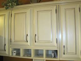 Antiqued White Kitchen Cabinets by Painted White Kitchen Cabinets Ideas