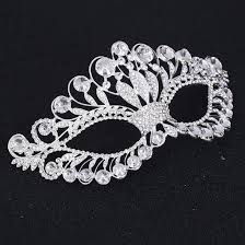 silver masks bling brides princess silver venetian masquerade mask party wedding