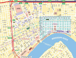 Chicago Toll Roads Map by New Orleans French Quarter Street Map New Orleans Louisiana