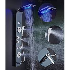 ello u0026allo stainless steel shower panel tower system led rainfall