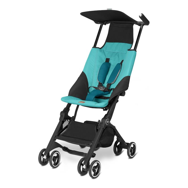 Gb 616230017 Pockit Record Collapsible Folding Baby Travel Stroller, Capri Blue