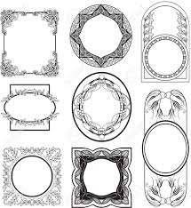 secession frames vector set stock corner flourish tikspor secession frames vector set stock corner flourish