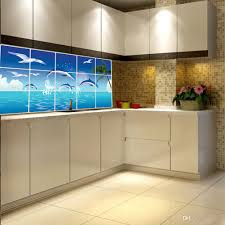 Fish Home Decor Waterproof Bathroom Kitchen Tile Aluminum Foil Wall Sticker Home