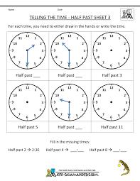 clock worksheets online telling time worksheets o clock and half past