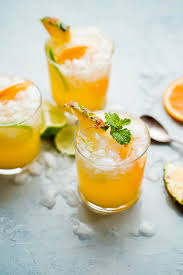 pineapple punch with ginger beer a beautiful plate