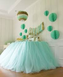 Table Decoration Ideas For Birthday Party by Table Decorated With Tulle Inspiration Only Pink For Girls