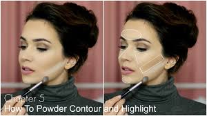 how to contour and highlight face nose u0026 cheeks youtube