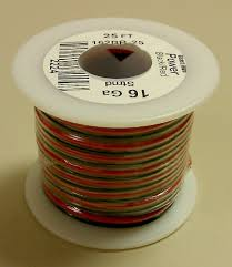 amazon com 16awg red u0026 black bonded speaker wire 25 u0027 roll
