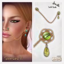 left side earring second marketplace v w senses ii left jade nose to ear