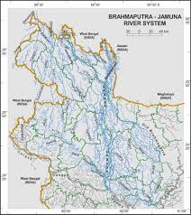 India River Map by Brahmaputra River Notes On Brahmaputra River System In India