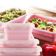 cr駱ine cuisine 巴芙洛 環保硅膠摺疊保鮮盒 1組3入 兩色任選 momo購物網