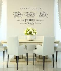 Dining Room Decals Vinyl Wall Decal Thank You Wall Decal Bless The Food
