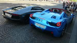 blue chrome lamborghini chrome blue ferrari 458 spider lamborghini aventador saudi cars