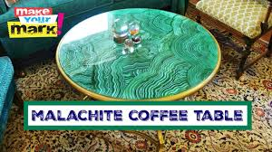 faux agate side table how to faux malachite coffee table youtube