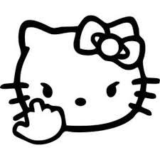 car decal stickers jdm kitty fierce car accessories