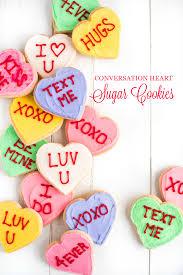 conversation hearts conversation heart sugar cookies garnish glaze