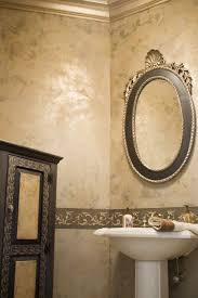 golden venetian plaster with stencil love the color by sharon