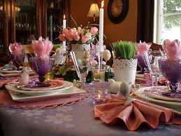 Easter Dinner Table Decorations by Dining Delight Purple U0026 Pink Easter Brunch