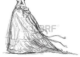 bridal dress drawing royalty free cliparts vectors and stock