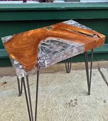 rectangular wood hairpin coffee table reclaimed teak and resin side table hairpin legimpact imports