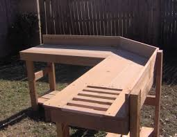 Outdoor Potting Bench With Sink Potting Benches