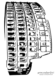 roman colosseum coloring print color fun