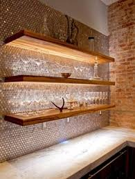 stainless steel or copper tiles for a backsplash the kitchen