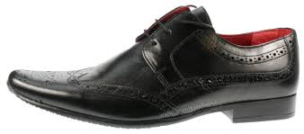 red tape mens skelton leather brogue lace up square toe shoes uk 7