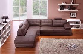 Small Brown Leather Corner Sofa Veron Stylist Modern Brown Leather Corner Sofa Left Hand In