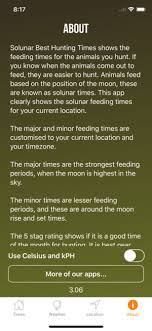 best hunting and fishing times solunar table calendar solunar best hunting times on the app store