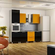 furniture awesome black yellow kitchen with long black kitchen