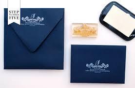 wedding invitations return address diy tutorial indigo floral print wedding invitations