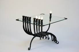 menorah candle holder hanukkah table menorah hanukkah menorah with table of iron