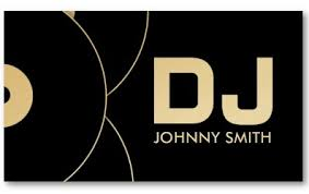 Business Card Music Dj Vinyl Record Music Business Card Modern Business Cards