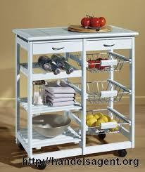 servierwagen küche küchenwagen holz weiß abstelltisch arbeitshilfe küchentrolly