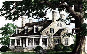 Luxury Colonial House Plans Plantation House Plans Southern With Wrap Around Porch Porches
